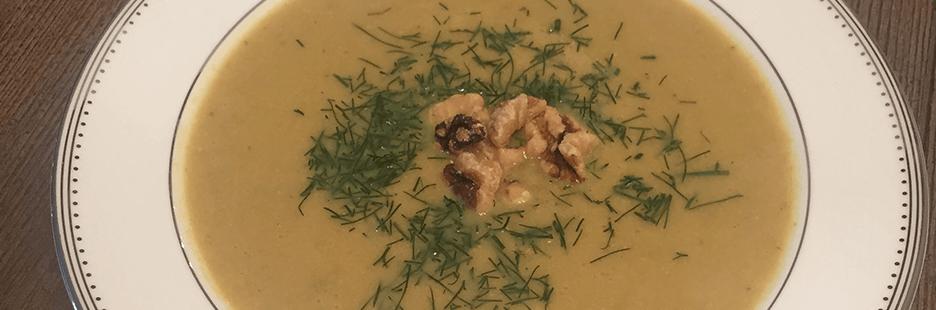 Leek, Fennel, Apple and Walnut Soup - Clean Slate Cleanse